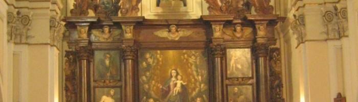 Fig. 18 - Chiesa di San Pietro Apostolo, altare maggiore