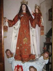 Chiesa di San Nicola, statua Madonna del Carmelo