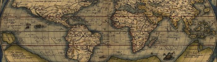 fig. 147 Carta del mondo di Ortelius