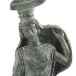 fig. 28 Particolare del manico di specchio in bronzo