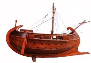 fig. 52 Una nave da guerra greca. Plastico ricostruttivo
