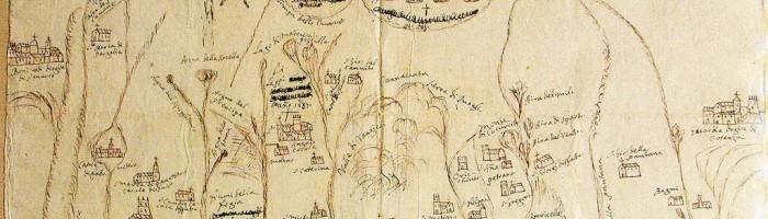 fig. 66 Pianta della terra del Cetraro e feudo di Fella seconda metà XVIII.
