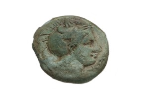 fig. 88 Moneta in bronzo di Thurii con testa di Athena