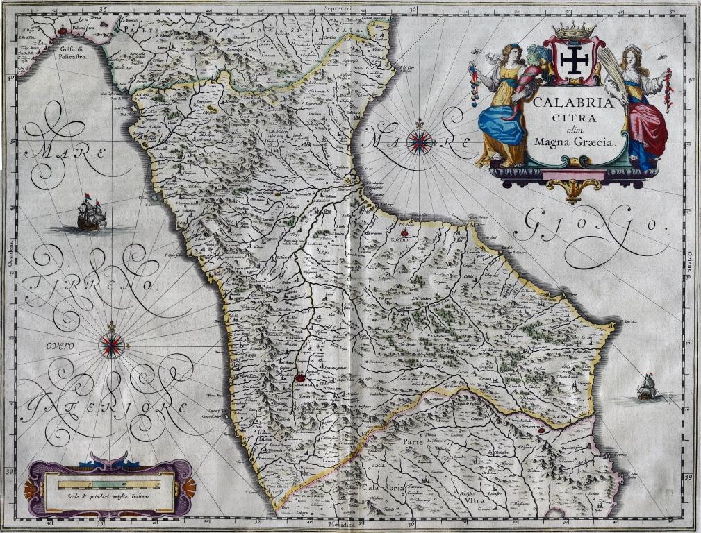 19-tav. XIX-Calabria Citra olim Magna Graecia (metà '600)