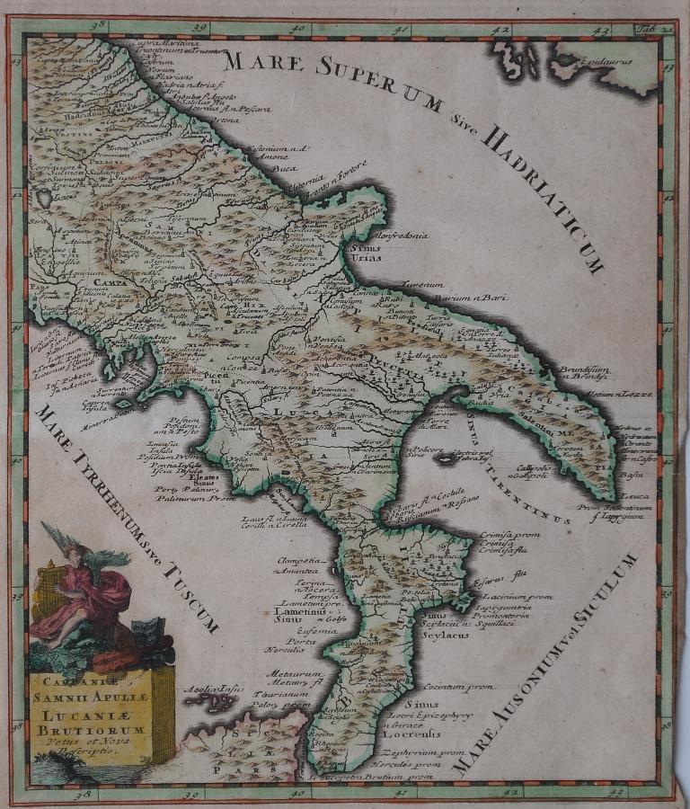 23-tav. XXIII-Campaniae Samnii Apuliae Lucaniae Brutorium...(1697)