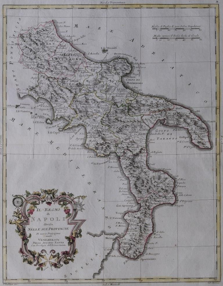 43-tav. XLIII-Il Regno di Napoli diviso nelle province (1782)