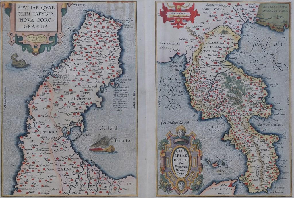 5-tav. V-Apuliae quae olim Iapigia-Calabria descriptio (1560 ca)
