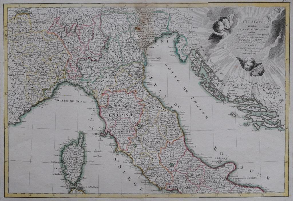 56-tav. LVI-L'Italie divisée en ses etats (1812)