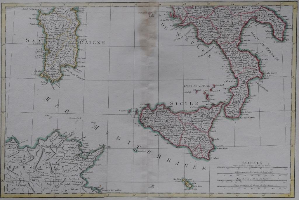 57-tav. LVII-Partie inferiore de l'Italie (1812)