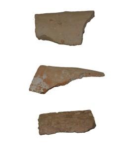 frammenti di coppi a profilo ricurvo