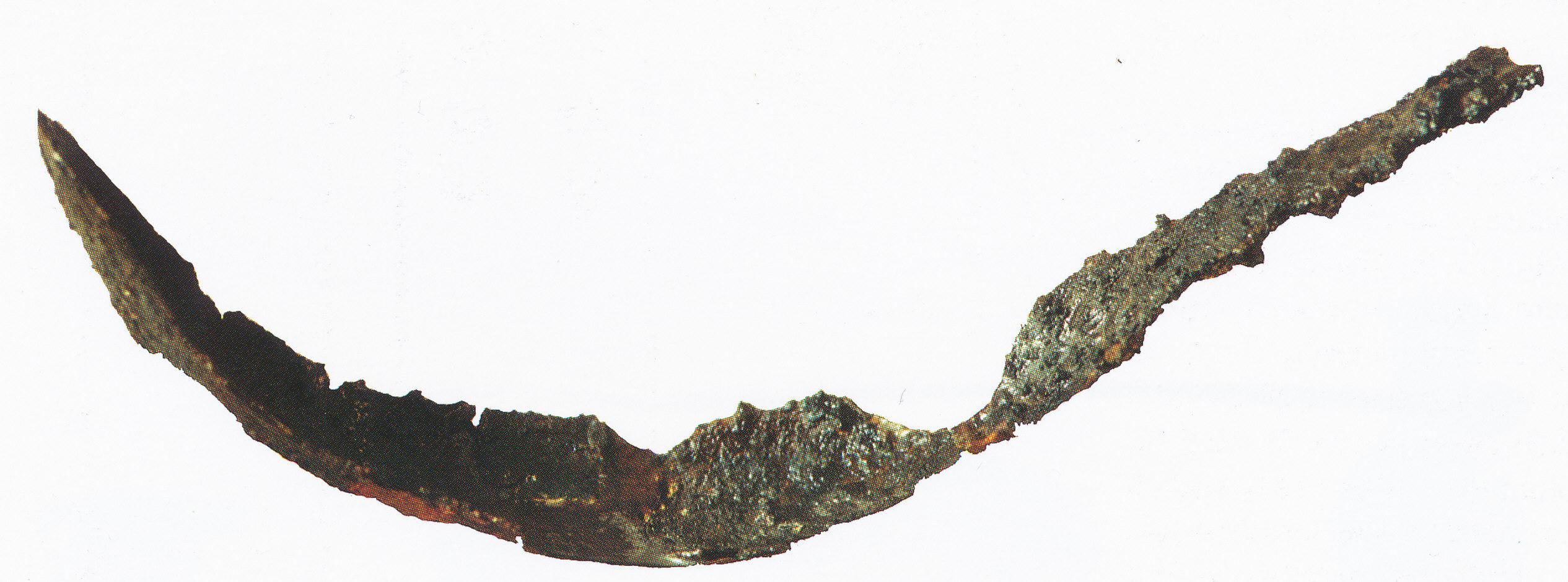 fig. 36 Lo strigile della tomba 9